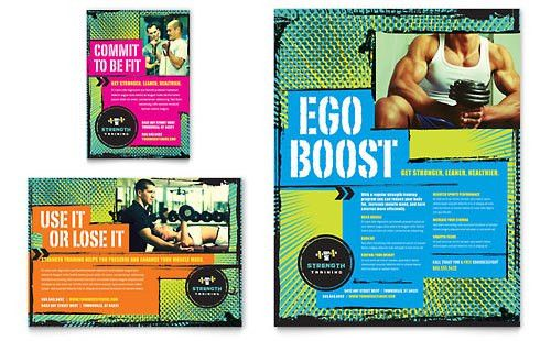 Strength Training Flyer & Ad Template Design | StockLayouts ...