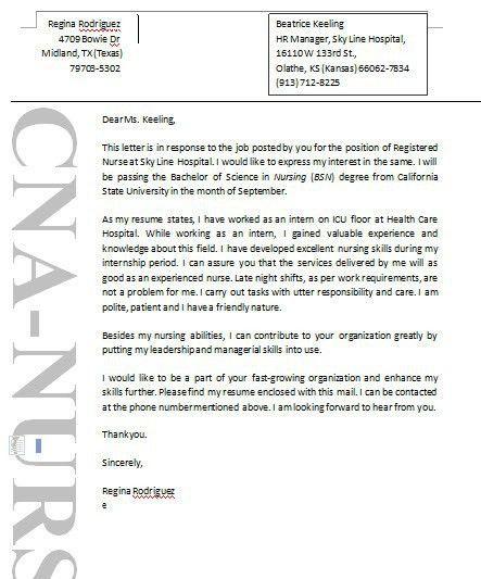 Ideas of Cover Letter Sample Nurse Aide For Sample - Shishita ...