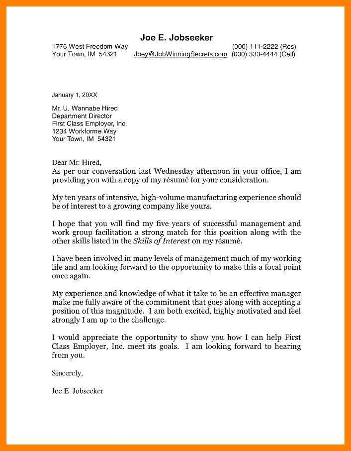 11+ apa cover letter example | experince letter