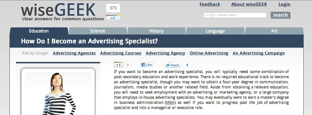 Advertising Specialist | My Career Paths