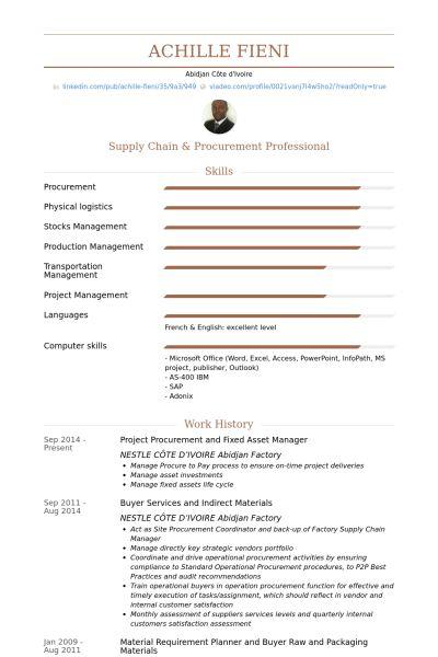 Asset Manager Resume samples - VisualCV resume samples database