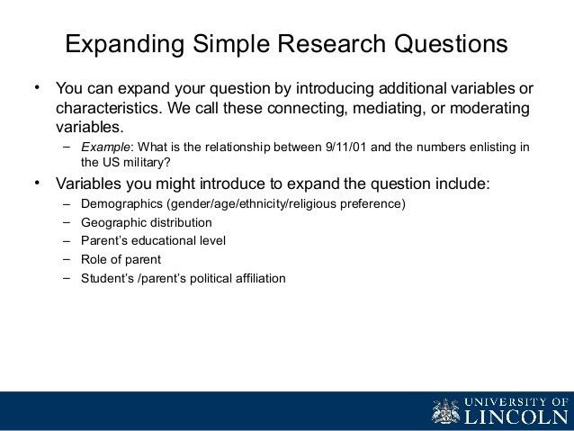 What do we mean by a research question?