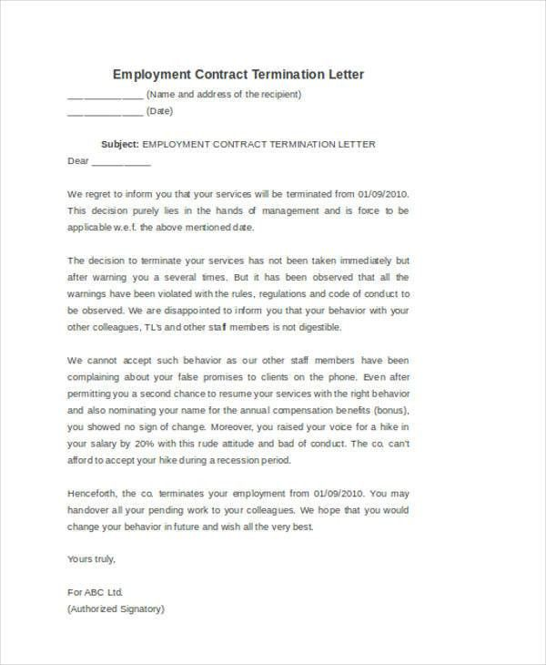 53+ Termination Letter Examples