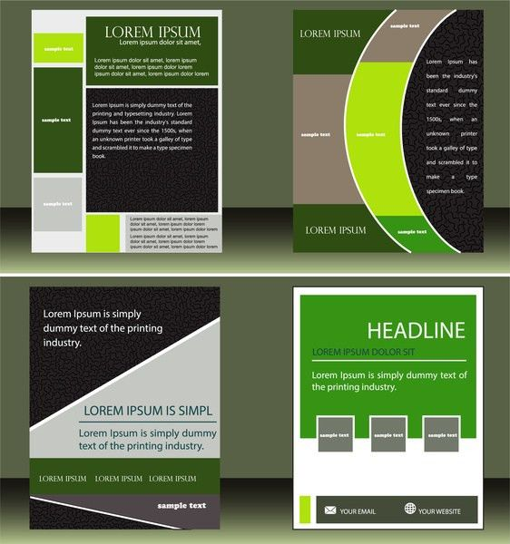 Newsletter layout free vector download (2,093 Free vector) for ...