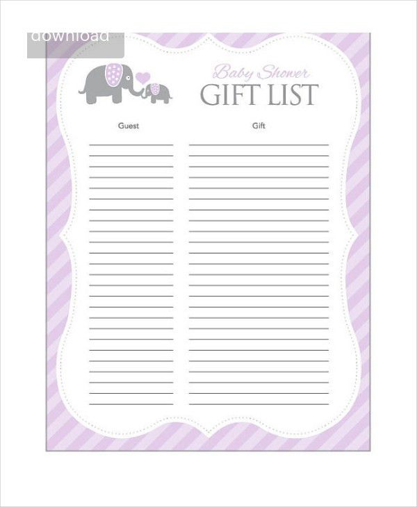 Baby Shower Checklist - 5+ Free PDF, PSD Documents Download | Free ...