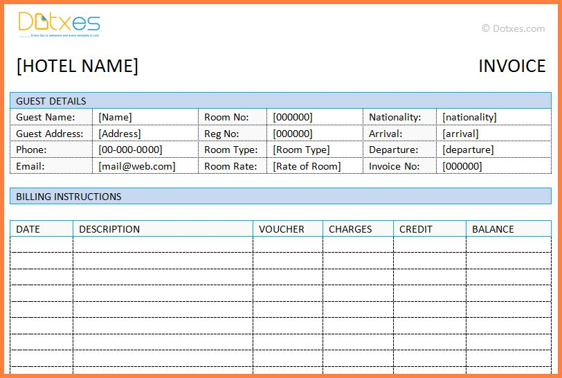 5+ hotel bill format in word | Simple Cash Bill