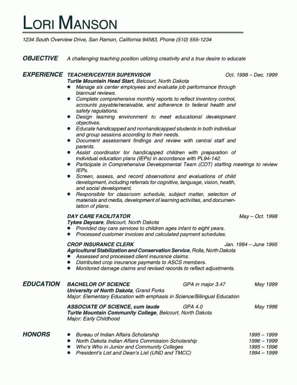 Download Objective For A Teacher Resume | haadyaooverbayresort.com