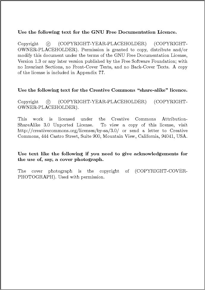 The Business of Book Publishing: The Copyright Page | The Future ...
