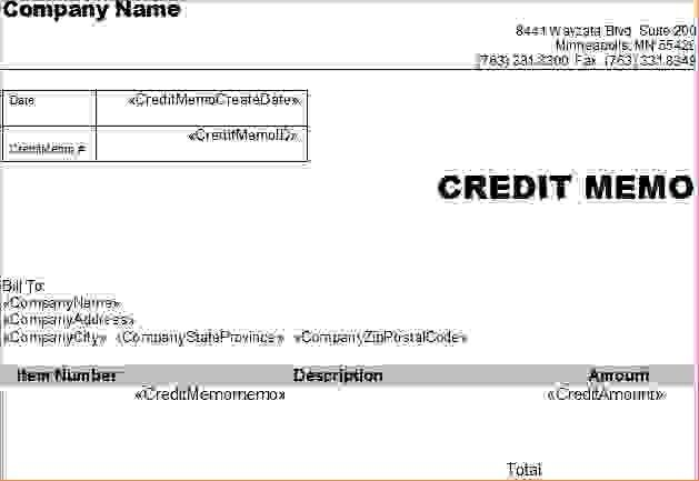7+ credit memorandumReport Template Document | report template