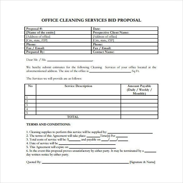 Sample Service Proposal - 9+ Example, Format