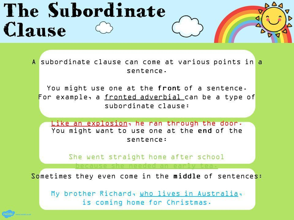 An informative PowerPoint about subordinate clauses - ppt download