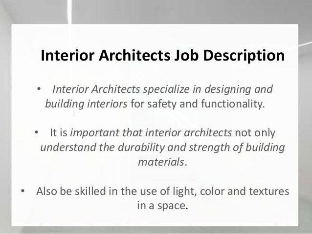 Architectural Design Job Description - DecoHOME