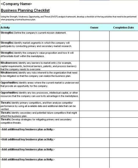 Checklist Template Word : Selimtd