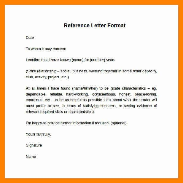 6+ reference letter layout | resumes great