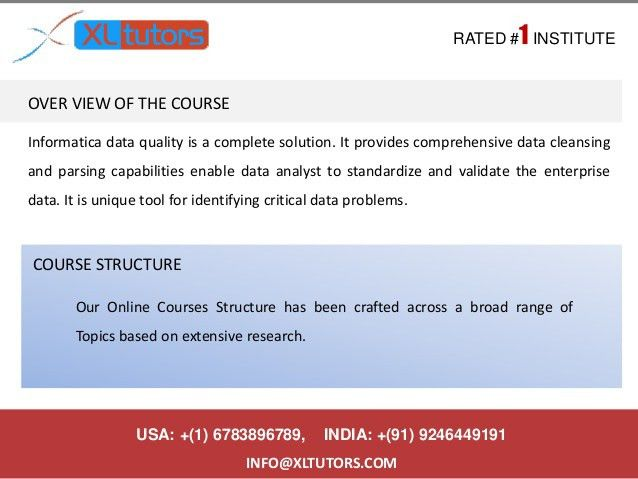 Informatica idq online training