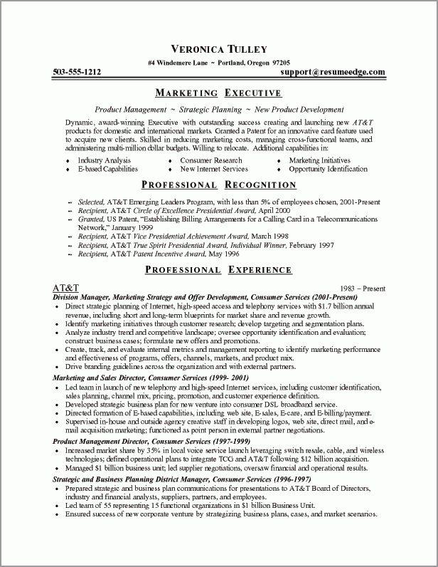 Executive Resume Sample - Powerful Executive Resumes - Sample ...