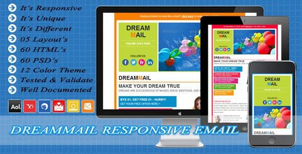DreamMail - Responsive Email Template by exchanger | ThemeForest
