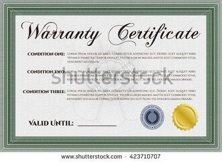 Certificate Completion Template Vector Format Stock Vector ...