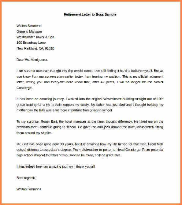 8+ sample resignation letter for retirement | Resign Letter Job
