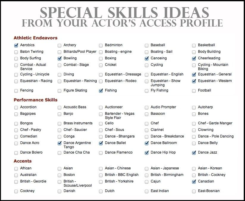 Special Skills On Resume | The Best Resume