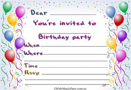 Birthday Party Invite | badbrya.com