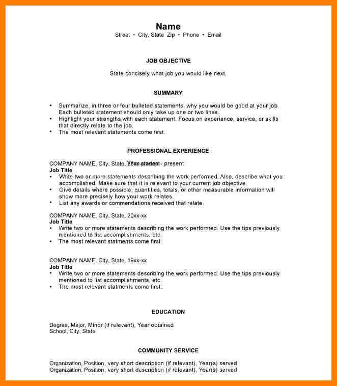 8+ chronological resume example | billing clerk resume