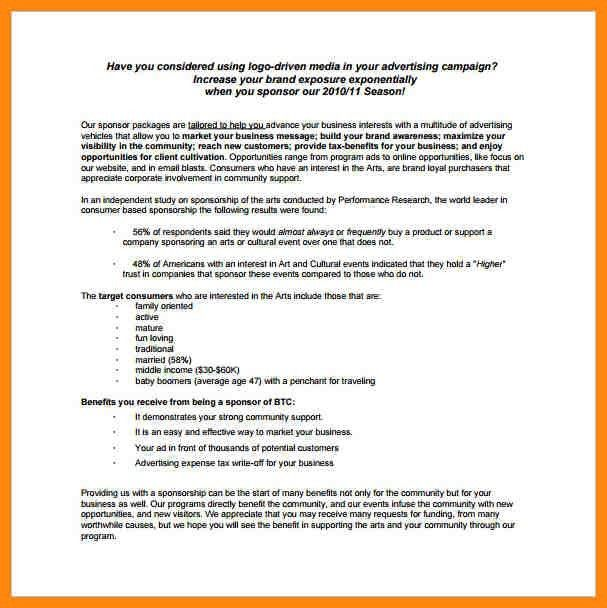 8+ sponsorship proposal template | nurse resumed