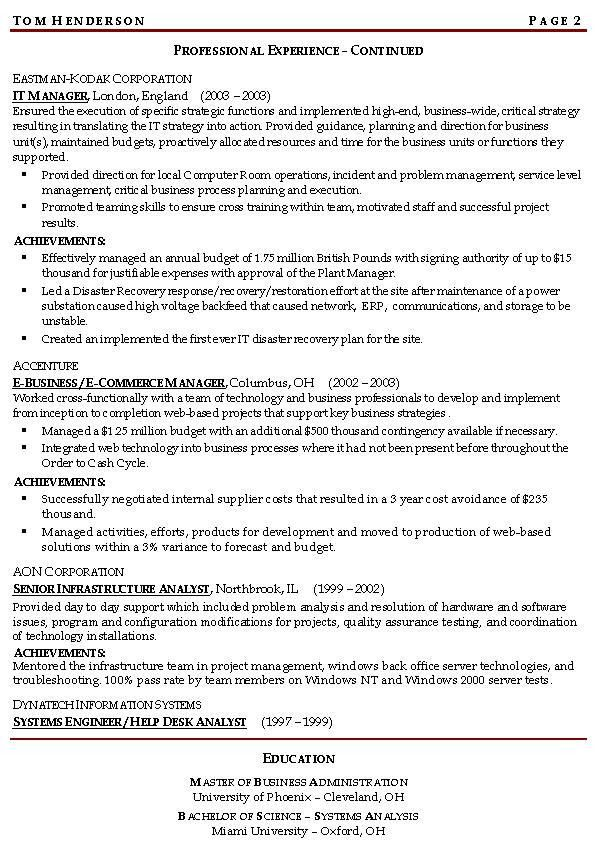 Example career objective for resume