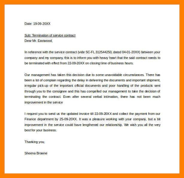 5+ service contract termination letter template | simple cv formate