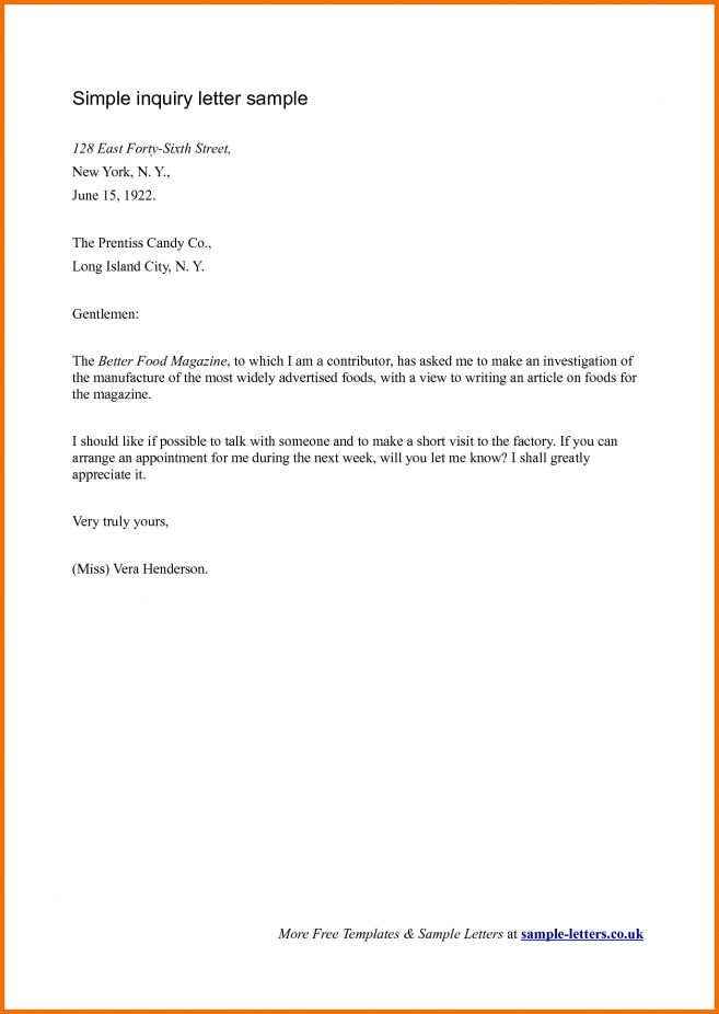 12 Write A Letter Of Inquiry Job Duties letter of order. letter of ...