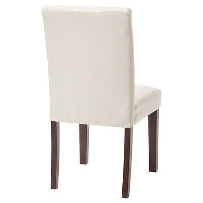 7 Button Dining Chair - Cream (Bonded Leather) - OSP Designs : Target