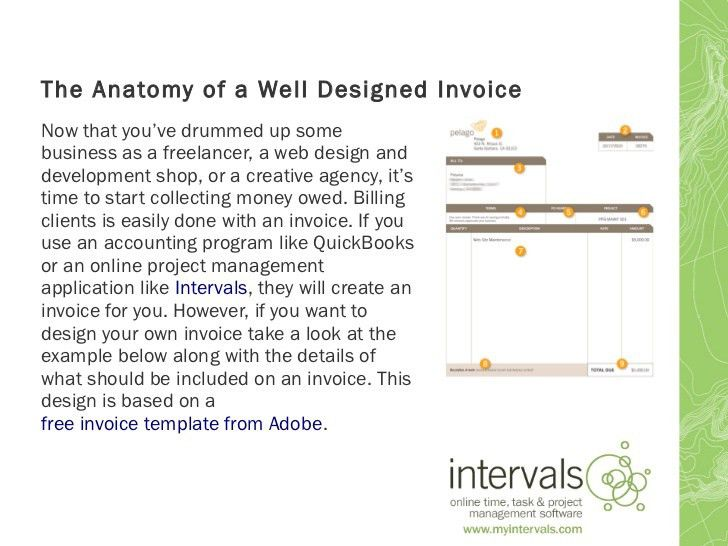 The anatomy of a well designed invoice