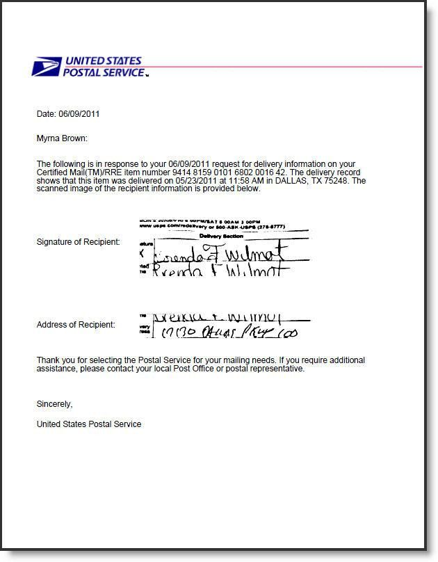 10 Best Images of Proof Of Receipt Letter Template - USPS ...
