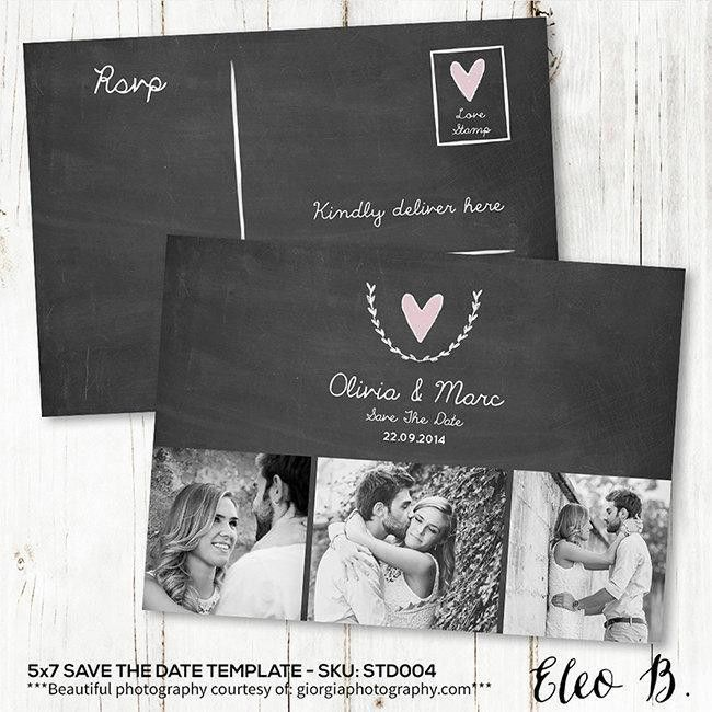 Save The Date Postcard - Save The Date Template - Wedding ...
