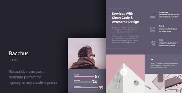 Bacchus - One Page HTML Template by CocoBasic | ThemeForest
