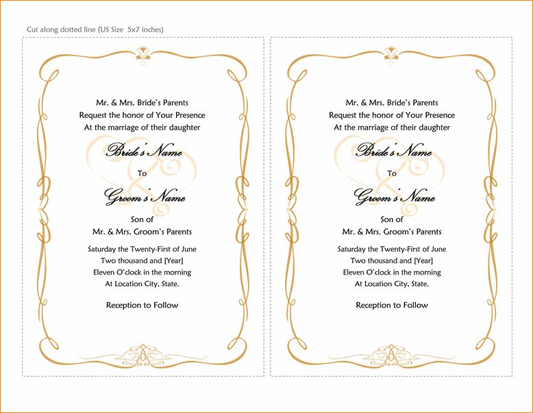 4+ microsoft word wedding invitation templates | Outline Templates