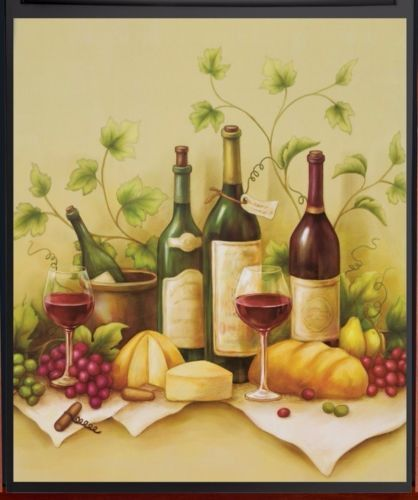 Vineyard Wine Bottle Cheese Dishwasher Door Magnet Cover 23 X 26 ...