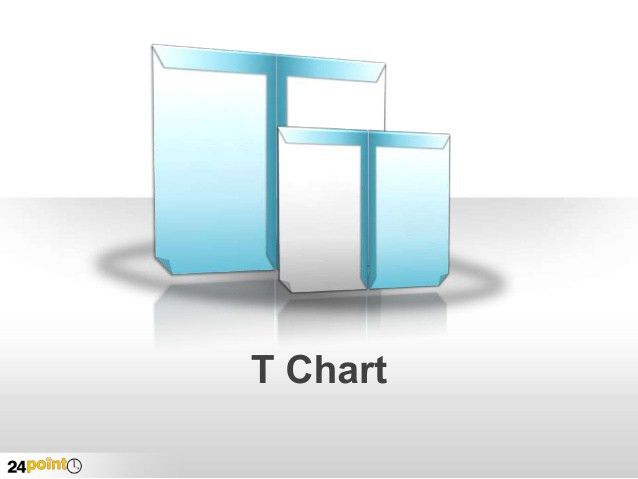 T Chart Diagram PowerPoint