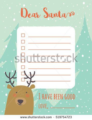 Cartoon Christmas Wish List Hedgehog On Stock Vector 522779209 ...