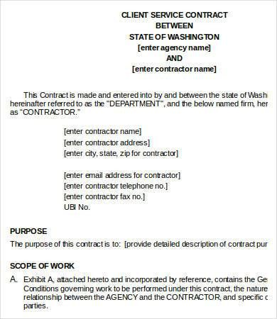 Service Contract Template - 10+ Free Word, PDF Documents Download ...