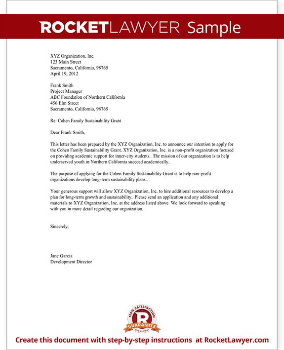Sample Format Letter Of Intent - Mediafoxstudio.com