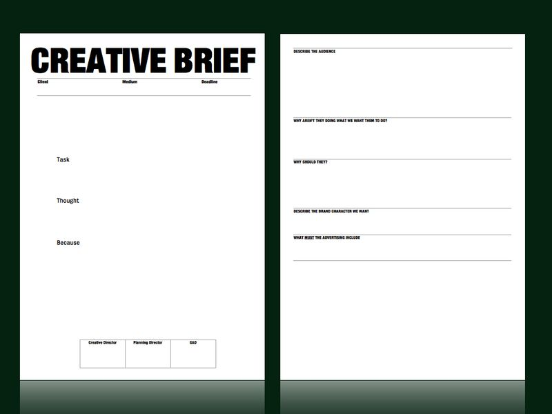 Creative brief template from M & C Saatchi | Strategy / Account ...