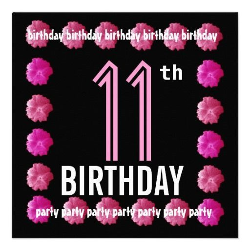 18 best 11th Birthday Party Invitations images on Pinterest ...