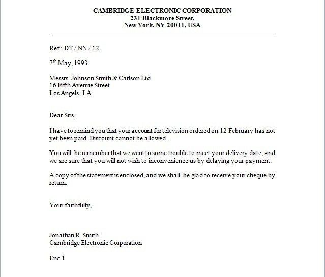Business Inquiry Letter | The Best Letter Sample