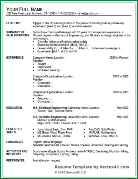 9 Simple Resume Format Download in Ms Word | applicationsformat.info