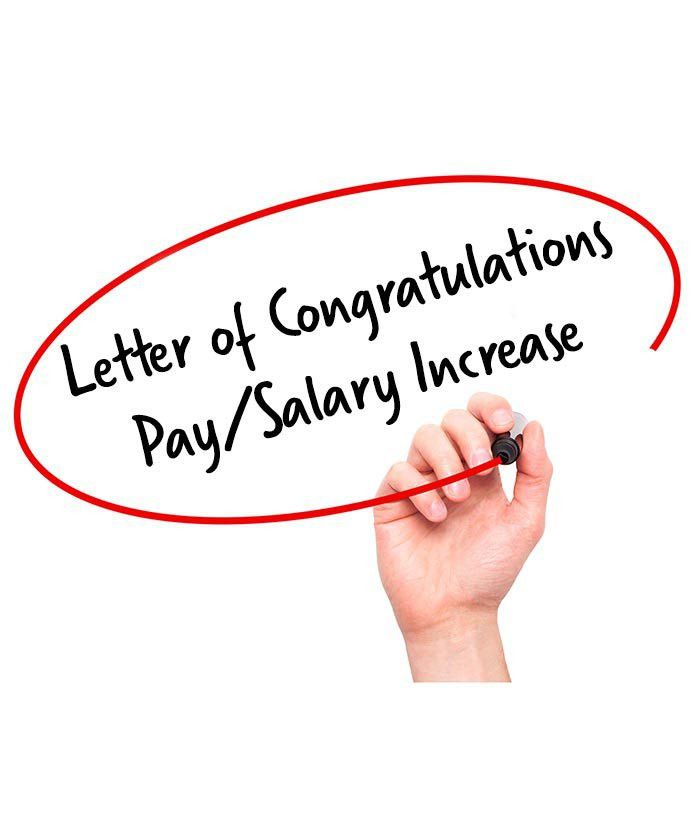 Letter of Congratulations on a Pay/Salary Increase - Signature Staff
