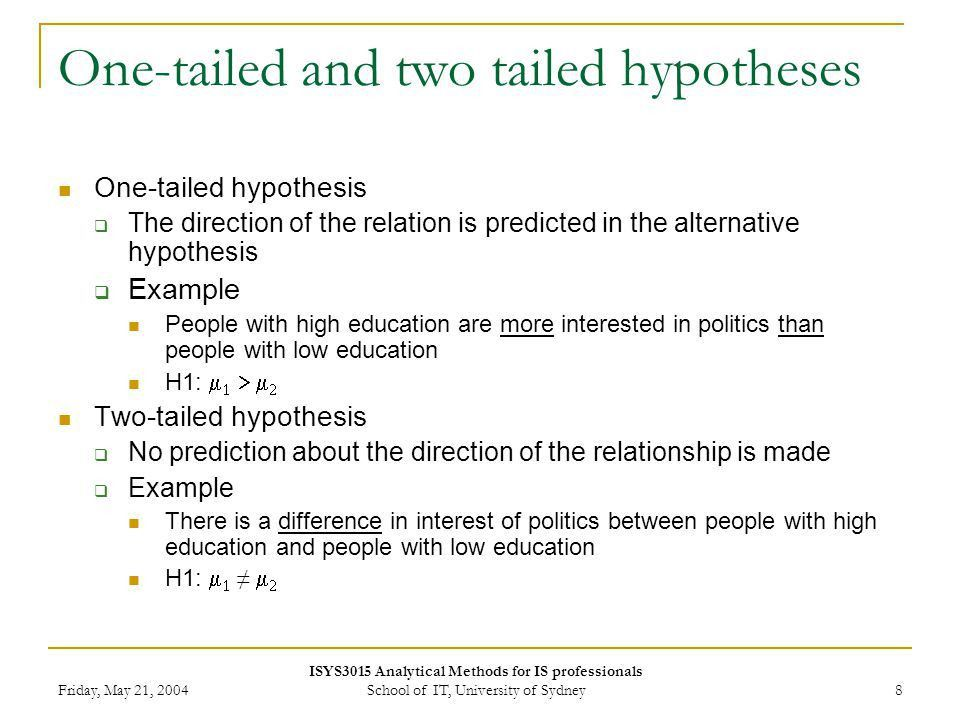 Hypothesis testing Week 10 Lecture ppt video online download