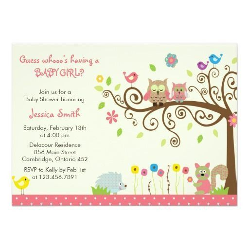 231 best Girl Baby Shower Invitations images on Pinterest | Baby ...