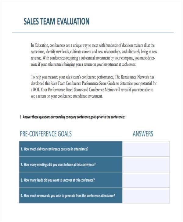 8+ Sales Evaluation Form Samples - Free Sample, Example Format ...