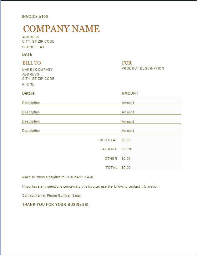 Price Quote Template | Word Excel Templates